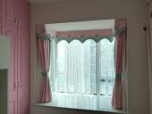 女孩房窗帘案例